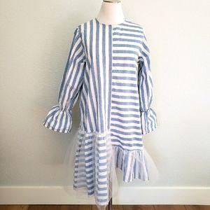 I Love Friday Asymmetrical Linen Dress Size S